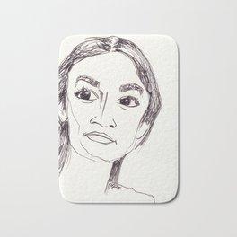 Alexandria Ocasio-Cortez Bath Mat