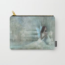Blue winged Fairy Carry-All Pouch