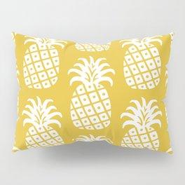 Retro Mid Century Modern Pineapple Pattern Yellow 2 Pillow Sham