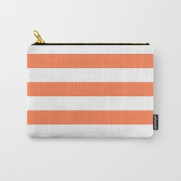 Horizontal stripes / coral Carry-All Pouch