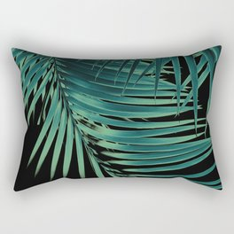 Palm Leaves Green Vibes #5 #tropical #decor #art #society6 Rectangular Pillow