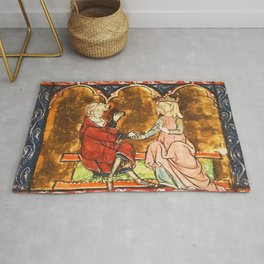 Arthur Legend 2 Lancelot and Guenevere Rug