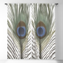 Peacock Feather Blackout Curtain