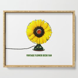 ORGANIC INVENTIONS SERIES: Vintage Flower Desk Fan Serving Tray