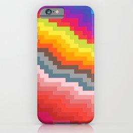 Pixel art rainbow iPhone Case