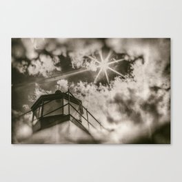 Black, White and Restless Canvas Print