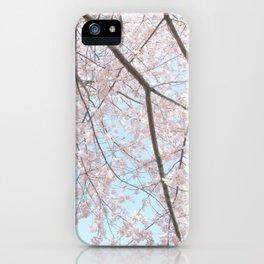 Vintage pink tree iPhone Case