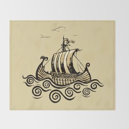 Viking ship 2 Throw Blanket