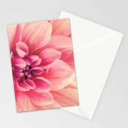 Her Smile (Spring Blooming Rose Pink Dahlia) Stationery Cards