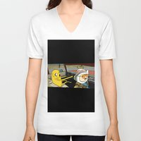 fear and loathing V-neck T-shirts featuring fear and loathing time by nakedoats
