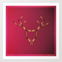 Music in Monogeometry : The Antlers Art Print