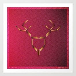 Music in Monogeometry : The Antlers Art Print