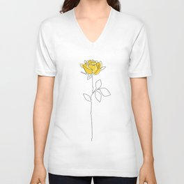 Lemon Rose Unisex V-Neck