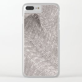 Sparkling metallic textile background Clear iPhone Case