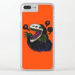Grim Reapersaur Clear iPhone Case