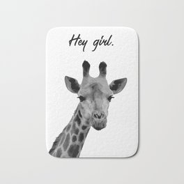 Hey Girl Giraffe Bath Mat