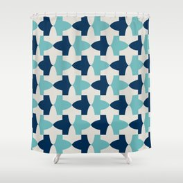 Alhambra Motif Blue Palette Shower Curtain