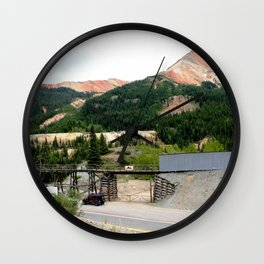 1880's Gold Rush - The Idarado Mine and Red Mountains Wall Clock