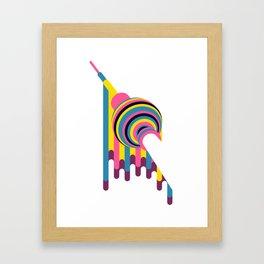 Lollipop Tower Framed Art Print