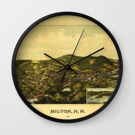 Aerial View of Milton, New Hampshire (1888) Wall Clock