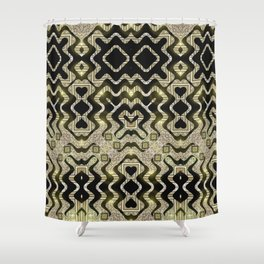 Tribal Gold Glam Shower Curtain