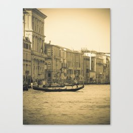 Venice, Grand Canal 5 Canvas Print