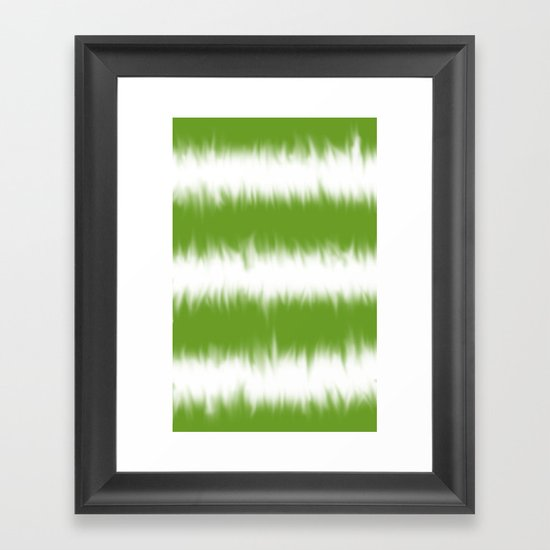 Green Tie Dye Framed Art Print