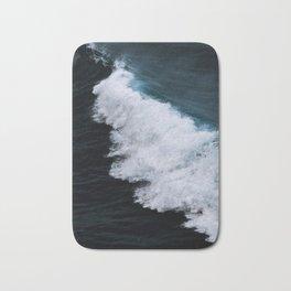 Powerful breaking wave in the Atlantic Ocean - Landscape Photography Bath Mat
