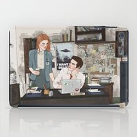 lydia martin iPad Cases featuring Teen Wolf X-Files AU (Stiles Stilinski & Lydia Martin) by vulcains