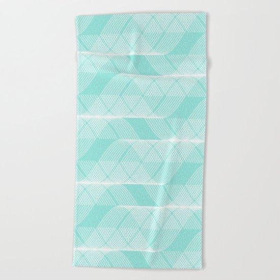 Blue Tiffany Helix Beach Towel
