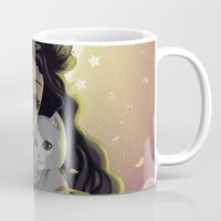 sailormoon Mugs featuring Luna by Mika
