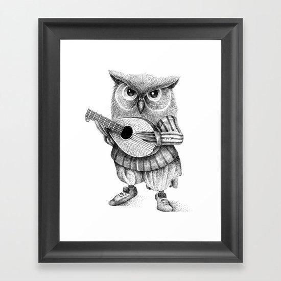 MISTER OWL Framed Art Print