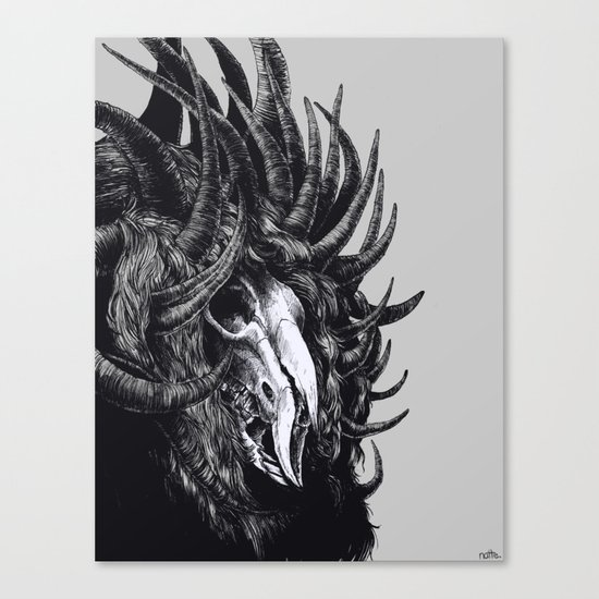 lord with 1000 horns Canvas Print
