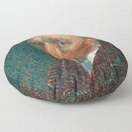 Vincent van Gogh - Self-Portrait, 1887 Floor Pillow