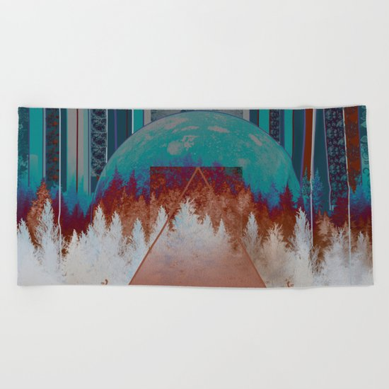 abstract floral forest 3 Beach Towel