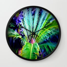 Tropical Plants and Flowers Wall Clock