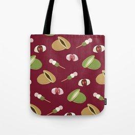 Japanese sweets (Burgundy) Tote Bag