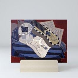 """Juan Gris """"Guitar with inlays"""" Mini Art Print"""