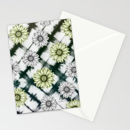 Green Daisies Smile Stationery Cards