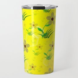 flower,abstract pattern in metal Travel Mug