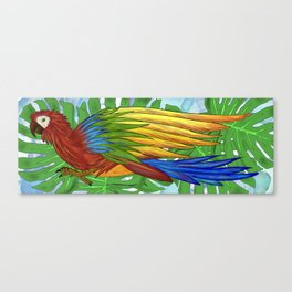 Parrot Flying Canvas Print