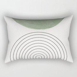 Green Moon Arch Rectangular Pillow