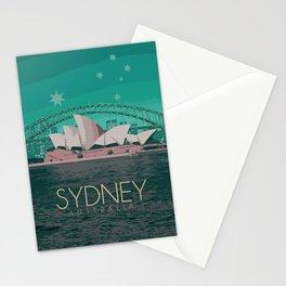 Sydney Australia Poster Version I Stationery Cards