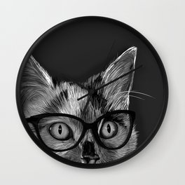 She's A Cool Cat Wall Clock