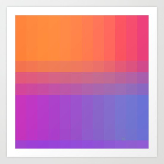 Squares and Stripes Four Art Print