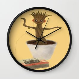Baby Groot Dancing with Awesome Mix Vol. 1 ~ Wall Clock