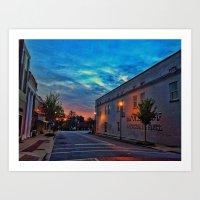 Washington Street Sunrise Art Print