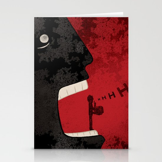 Hhhh... (silence) Stationery Cards