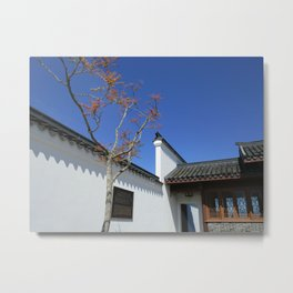 Courtyard at Chinese Garden #2 Metal Print