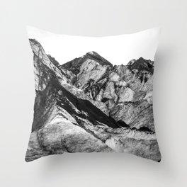 Black Dust on Solheimajokull Throw Pillow